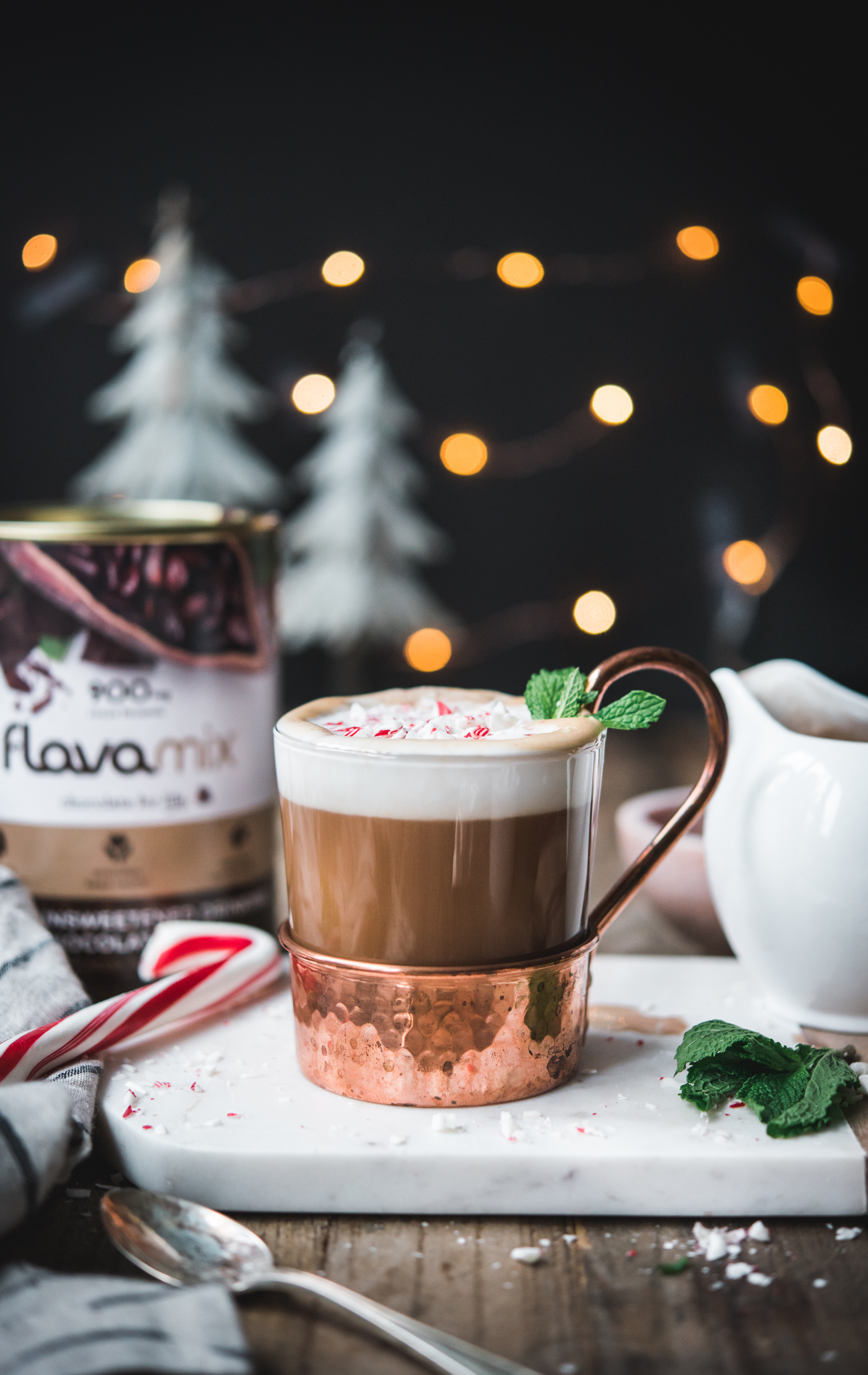 Peppermint Mocha with FlavaMix Unsweetened Drinking Chocolate